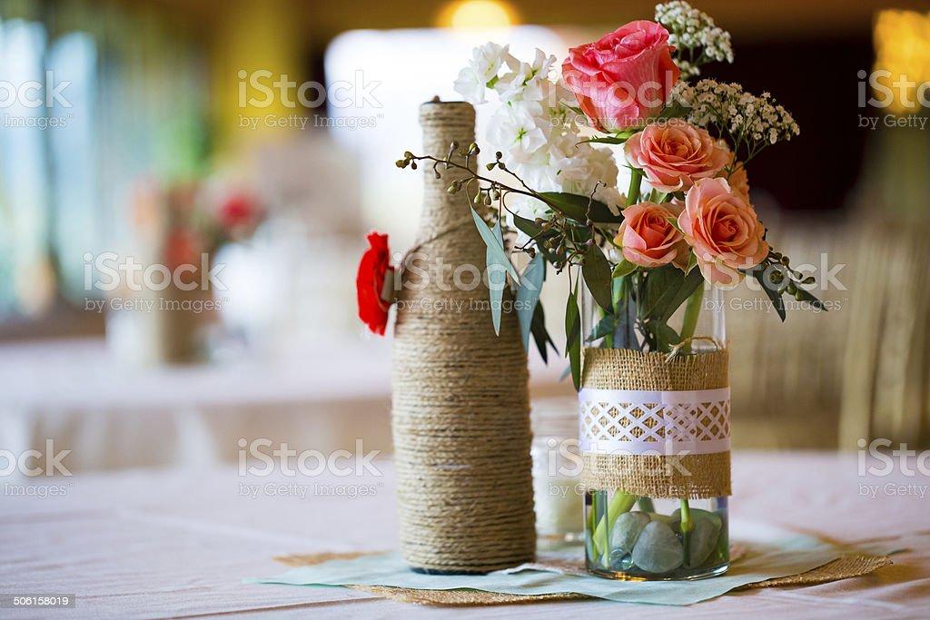 Wedding Reception Table Centerpieces stock photo