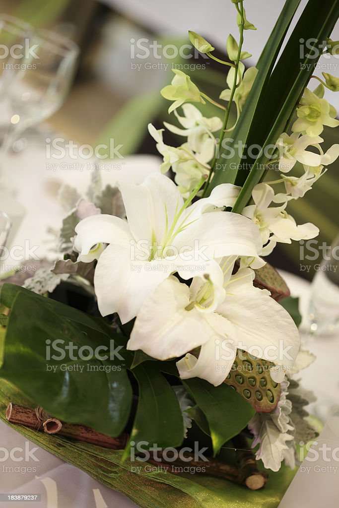 Wedding Reception Table Centrepiece stock photo