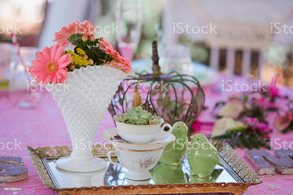 Wedding Reception Table Decorations Stock Photo - Download Image ...