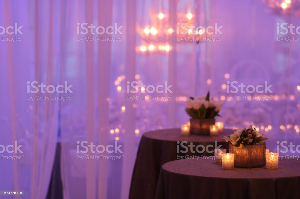 Wedding Reception table stock photo
