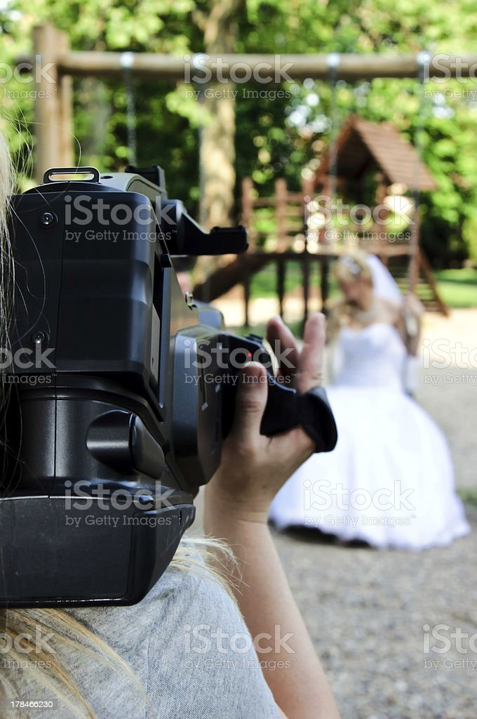 Wedding recording royalty-free stock photo
