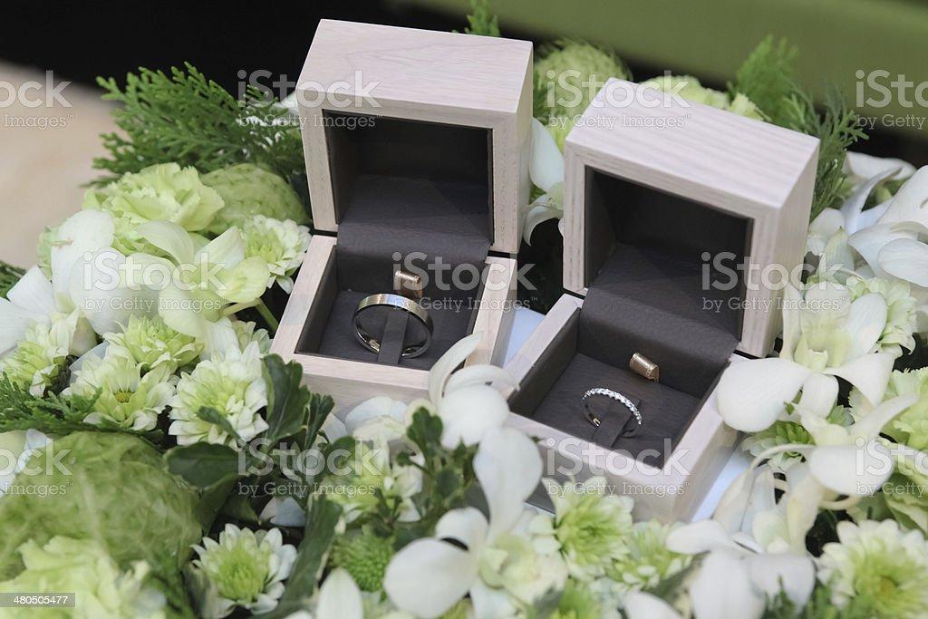 Wedding Ring box stock photo