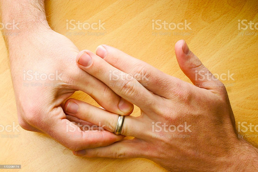 Wedding ring off royalty-free stock photo