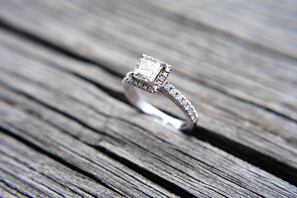 wedding ring - engagement stock photos and pictures