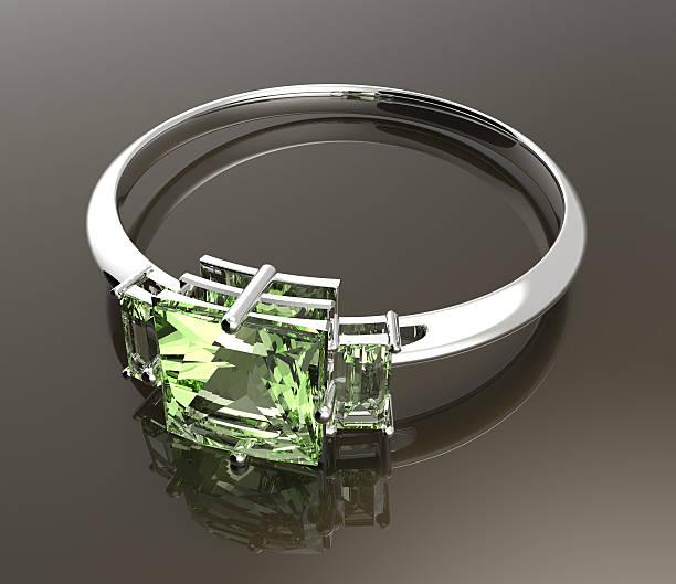 ehering wiith diamant. 3 d abbildung - zinn hochzeit stock-fotos und bilder