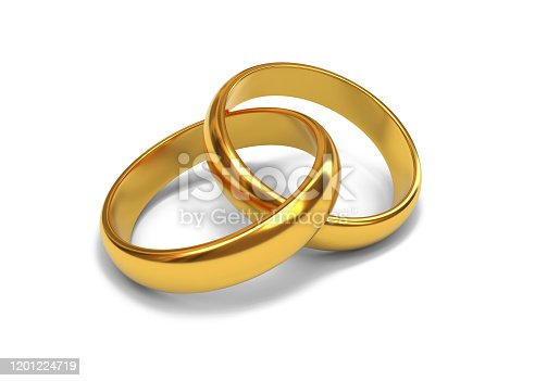 wedding, rings, 3d, rendering, isolated, white, background