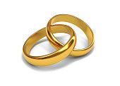 istock Wedding rings 3d rendering 1201224719