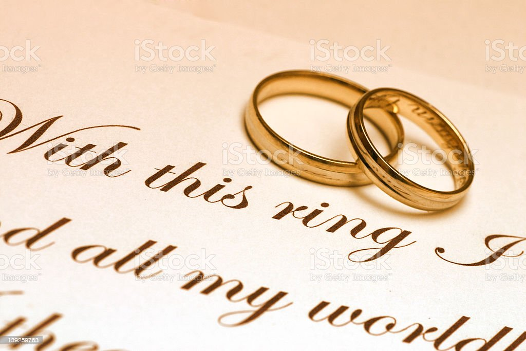 Wedding Rings And Vow royalty-free stock photo