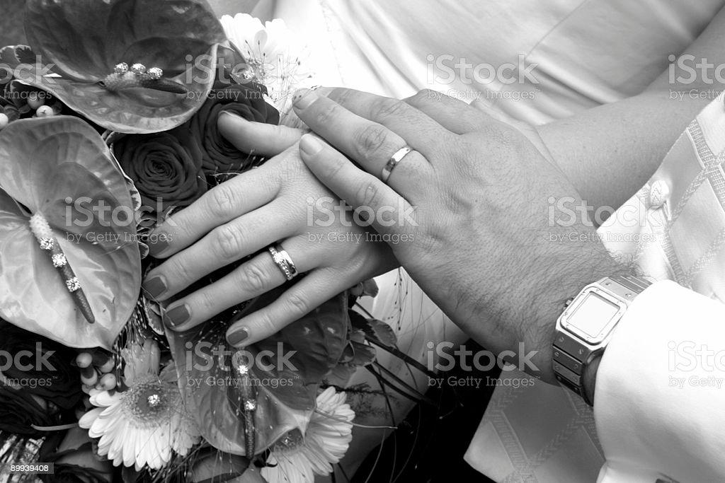 Wedding Rings B&W royalty-free stock photo