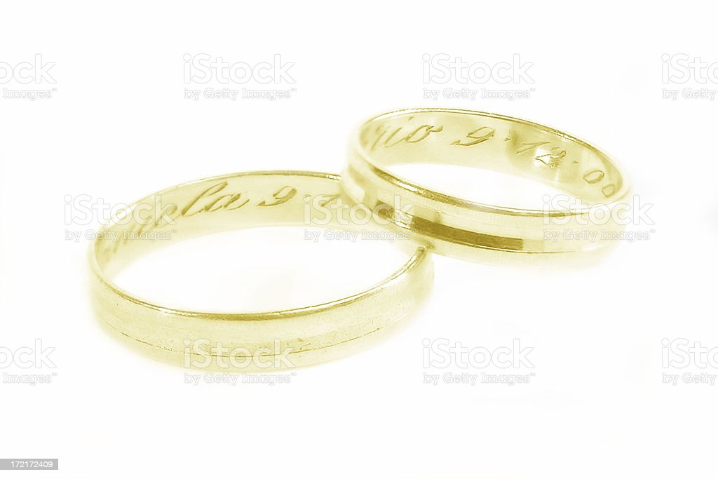 Wedding Rings: Golden - Soft Focus royalty-free stock photo