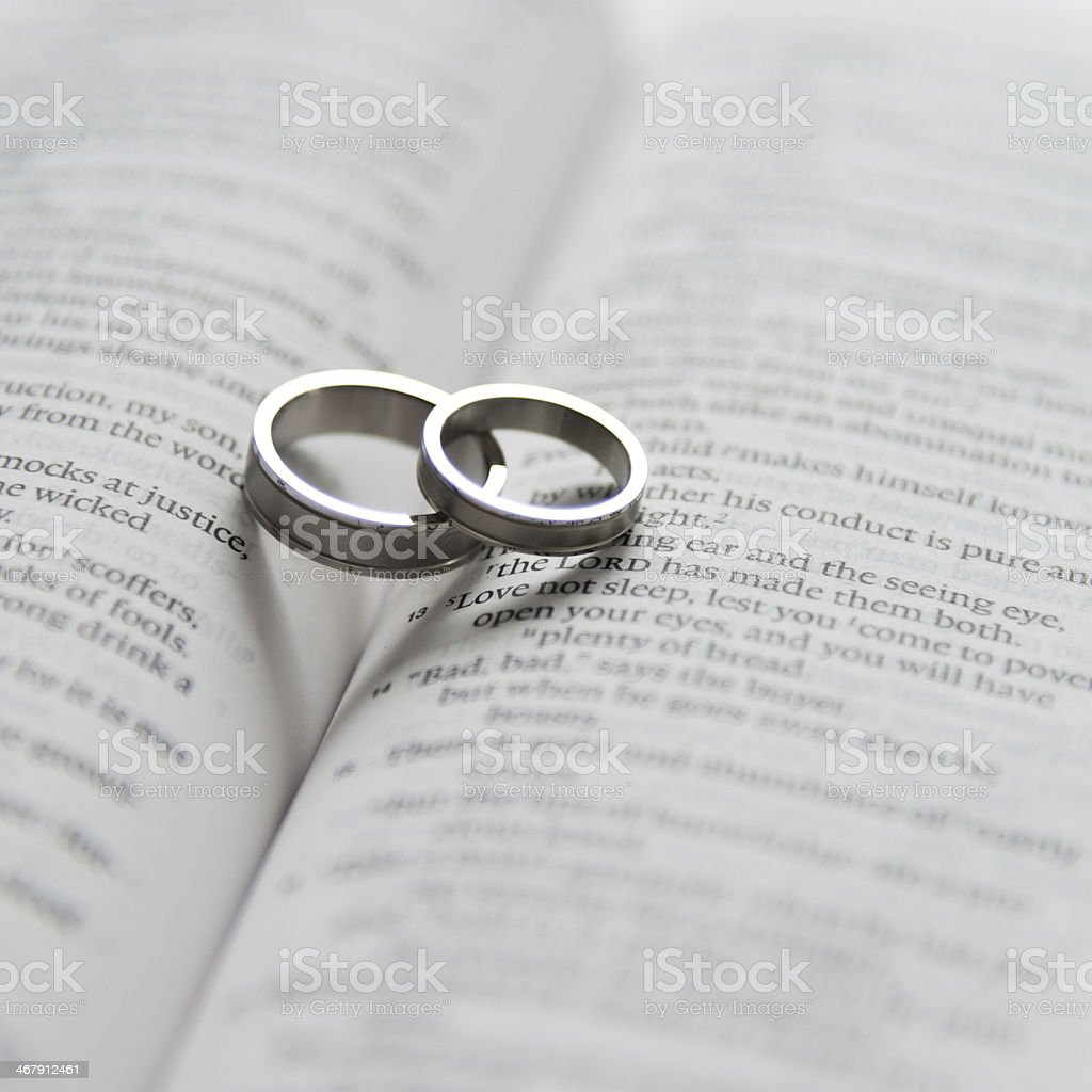 Wedding Rings On Bible Stock Photo More Pictures of Bible iStock