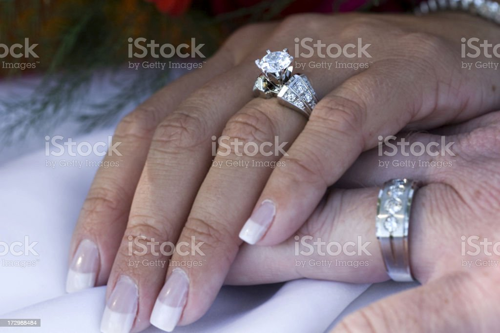 Wedding Rings On Hands Stock Photo Download Image Now Istock
