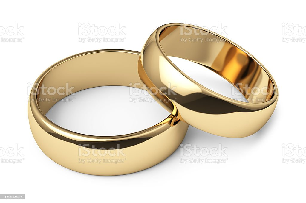 Wedding Rings On White Background Stock Photo More