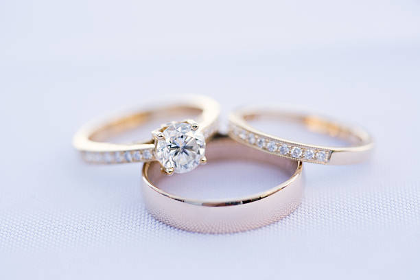 wedding rings - ring jewelry stock photos and pictures