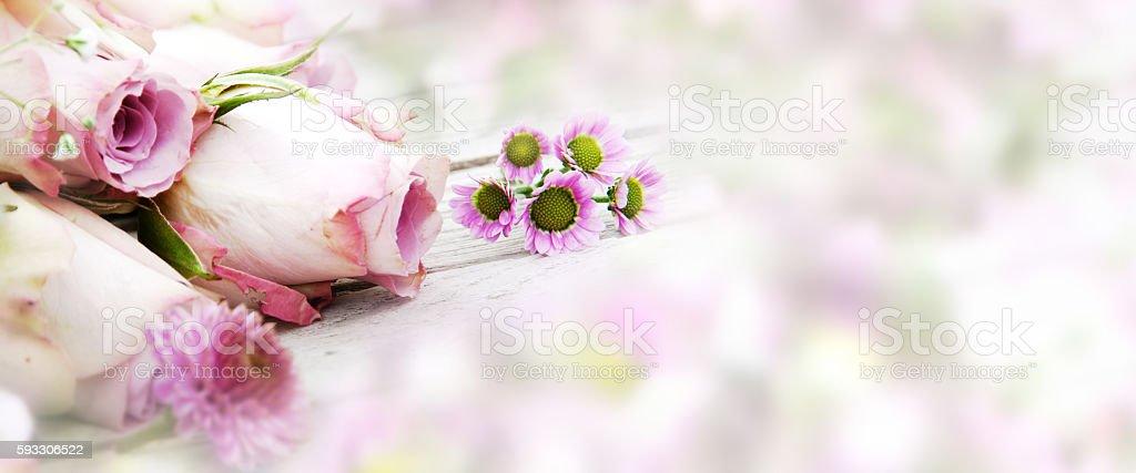 Casamento e rosas - foto de acervo