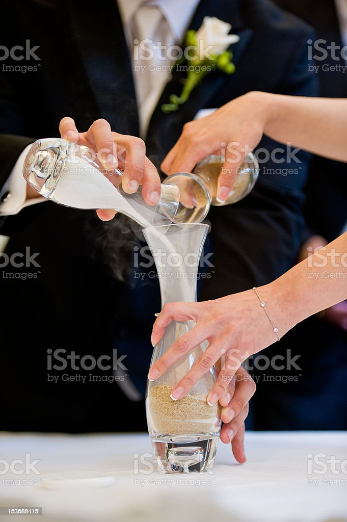 Wedding Sands Ceremony royalty-free stock photo