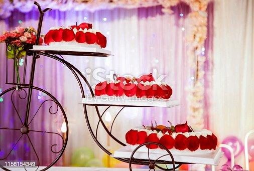 Wedding scene cake