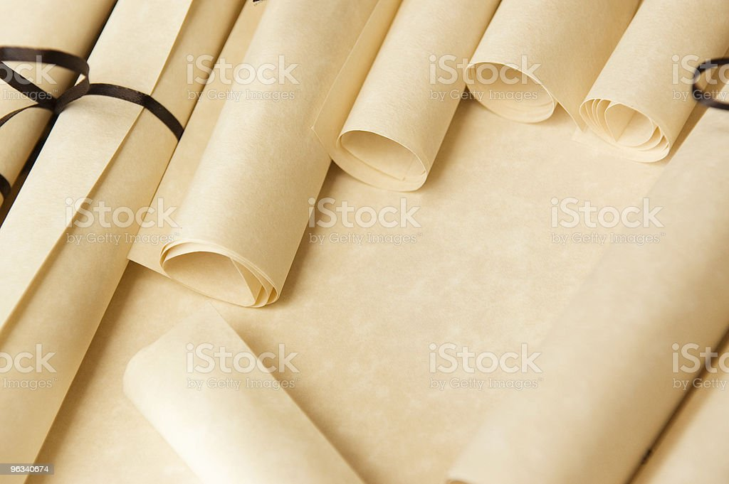 Wedding Scrolls royalty-free stock photo