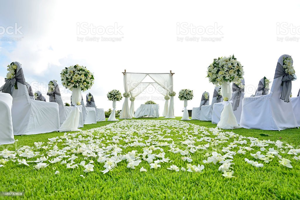 wedding set up in Phuket , Thailand stock photo