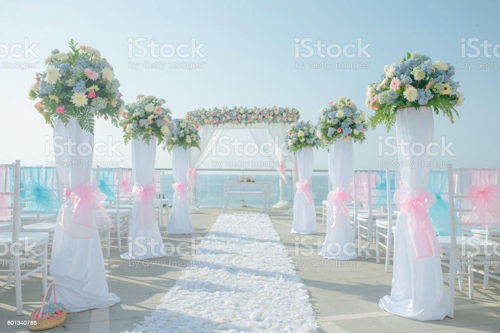 Wedding Set up stock photo