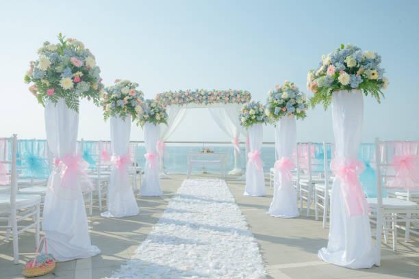 Disposición para bodas - foto de stock