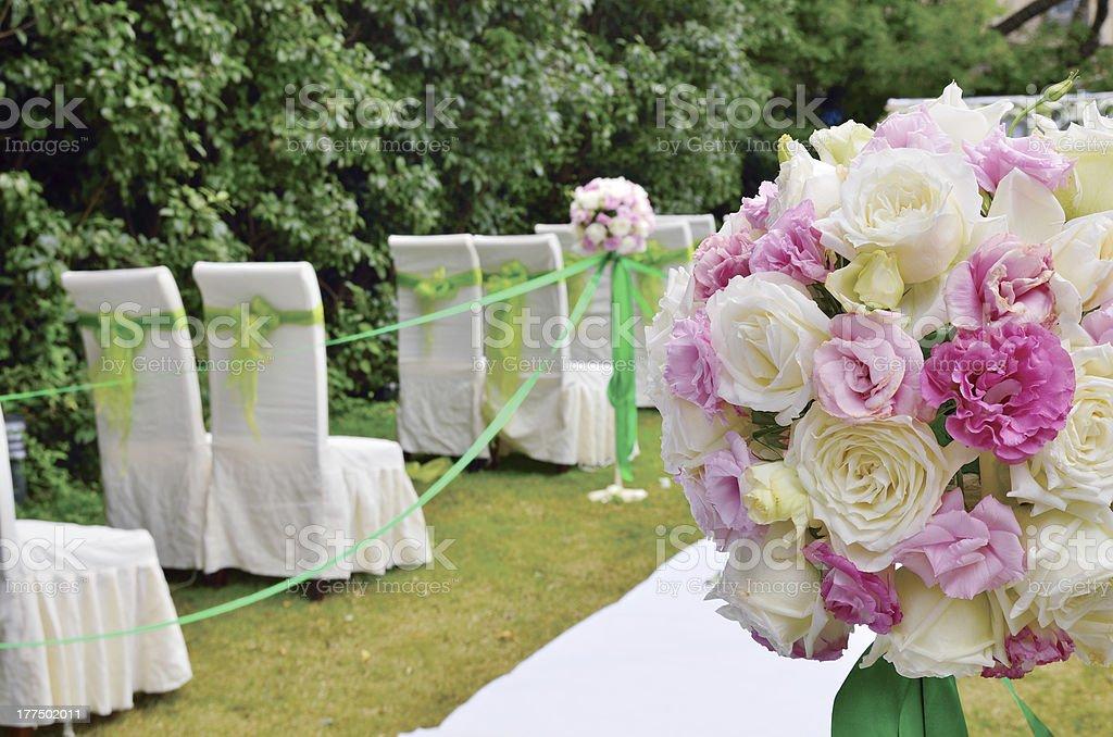 Wedding Setting royalty-free stock photo