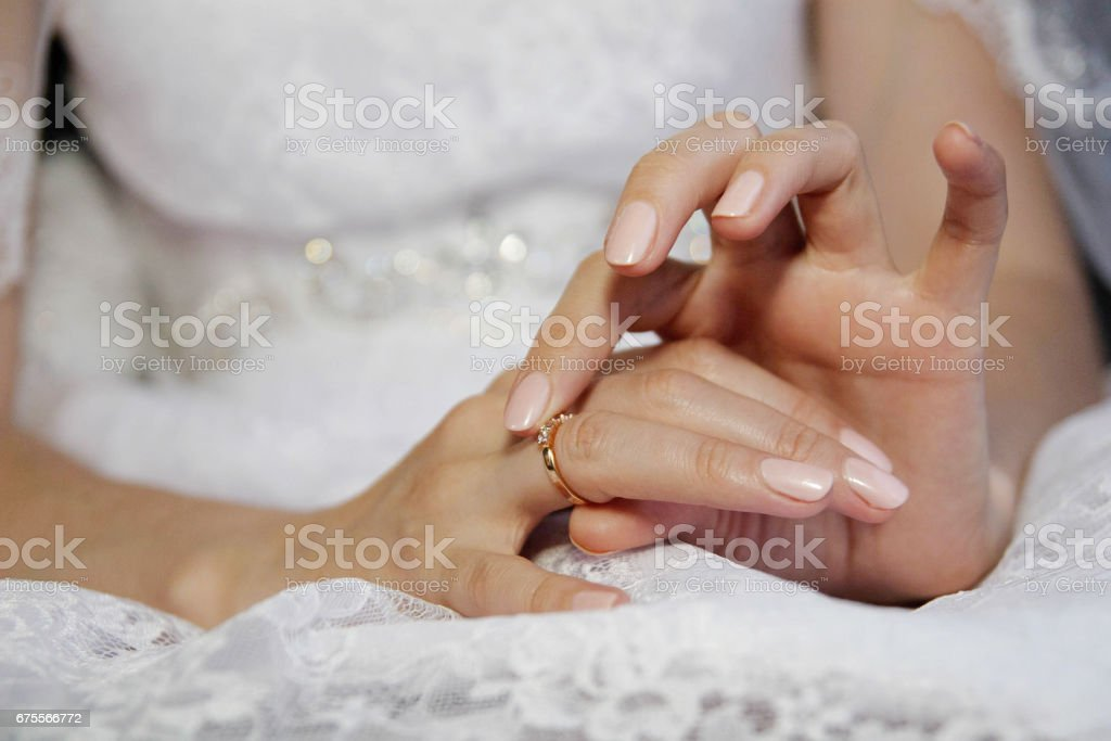 wedding sobry bride wedding ring stock photo