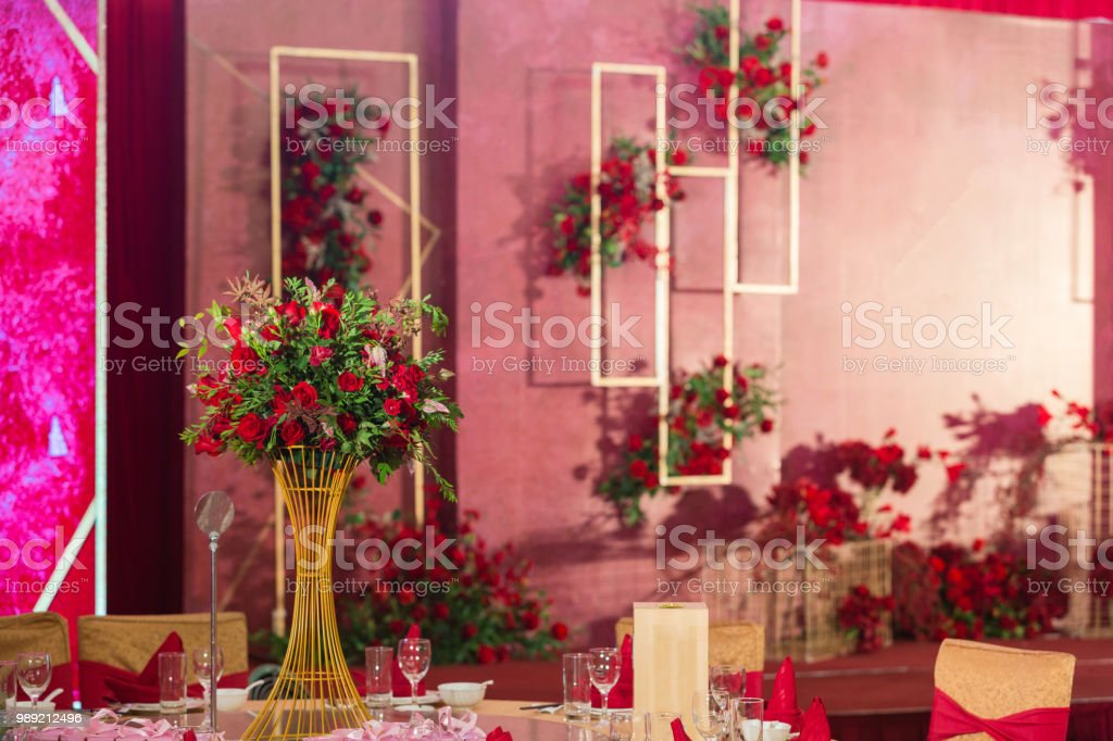 Wedding Stage Interior Design Roses For Decoration Wedding