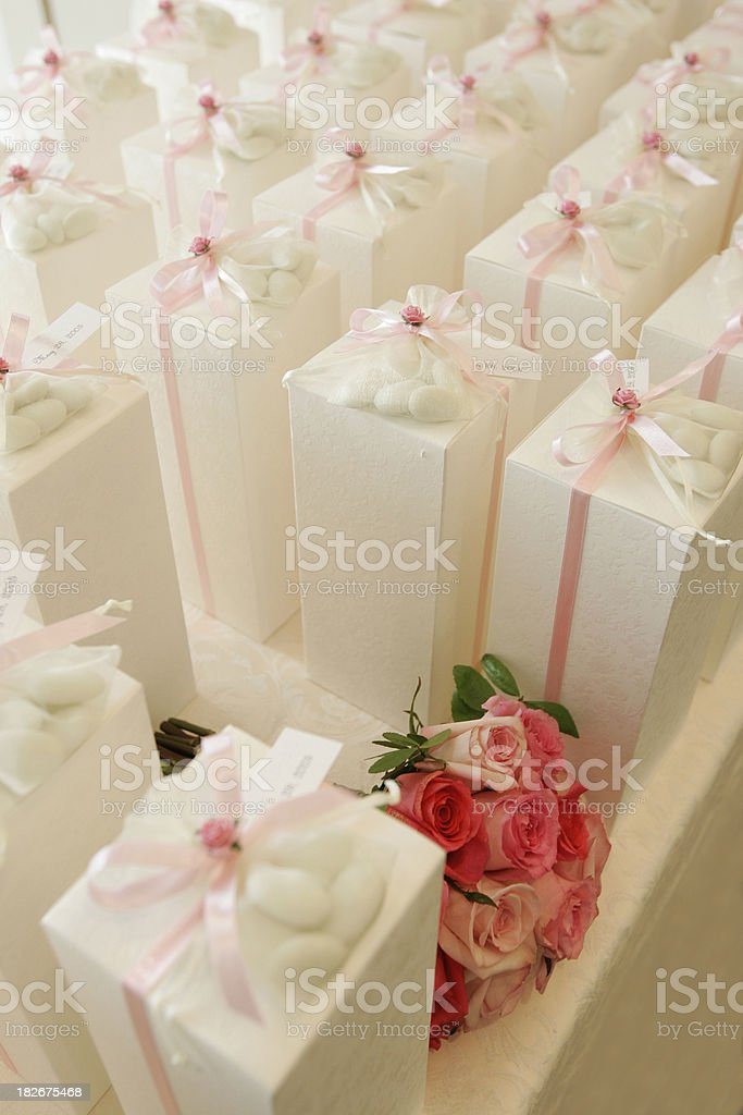 Wedding still life with roses royalty-free stock photo