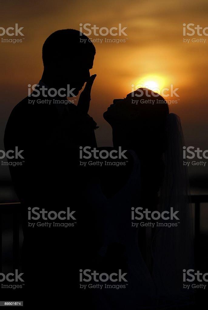 Wedding Sunset royalty-free stock photo