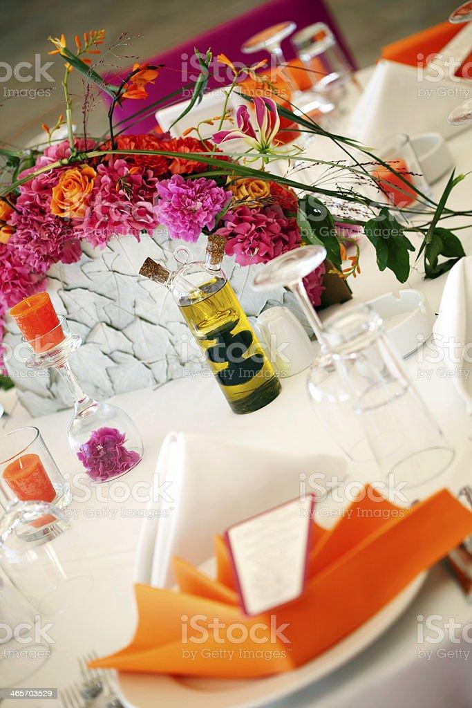 wedding table decoration royalty-free stock photo