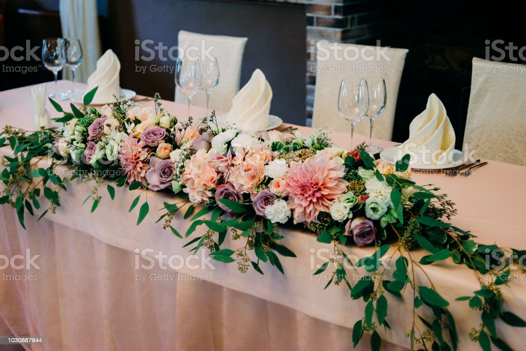 Photo Libre De Droit De Decoration De Fleur De Table De Mariage