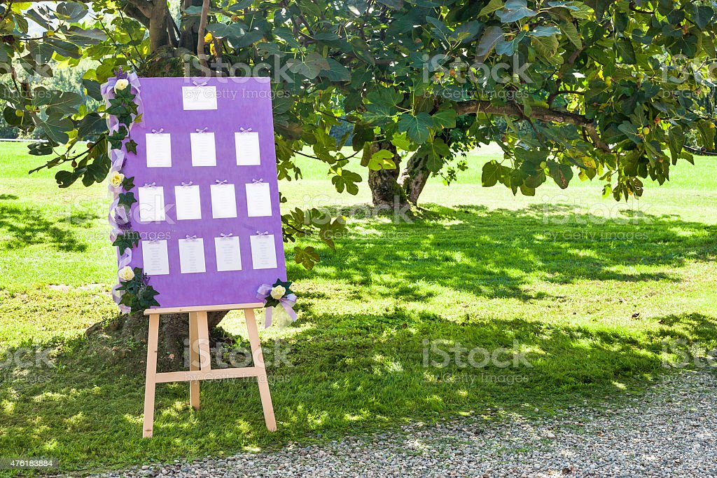 wedding table number, stock photo