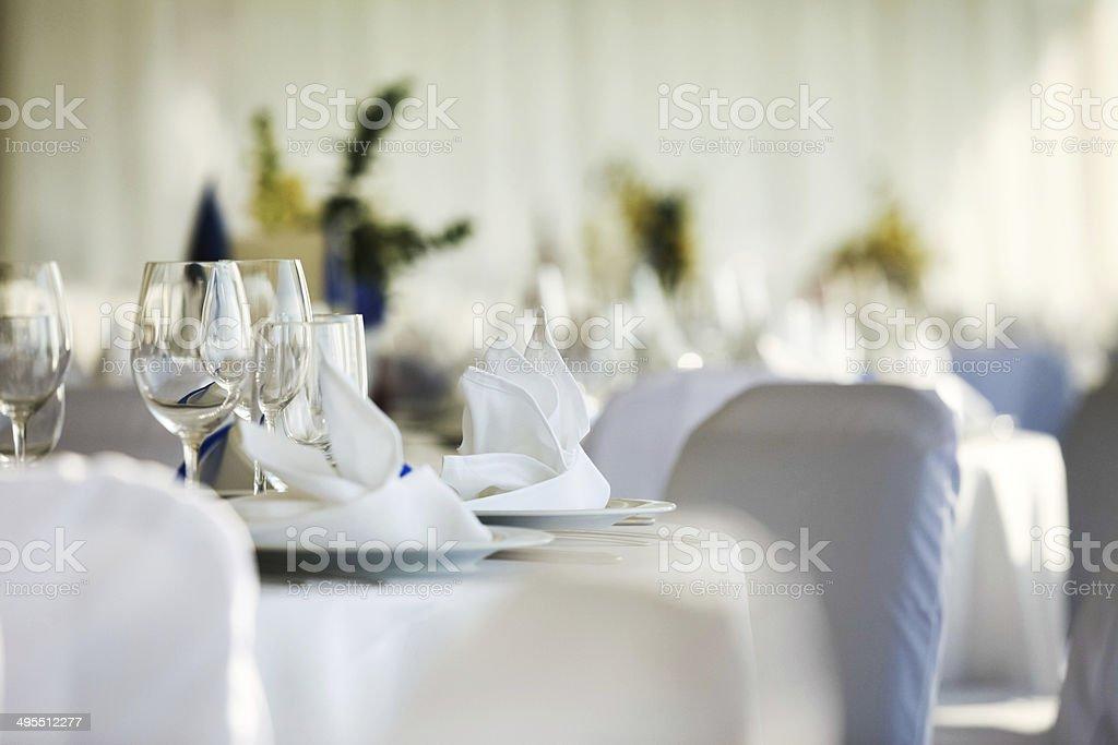 Mesa de bodas - foto de stock