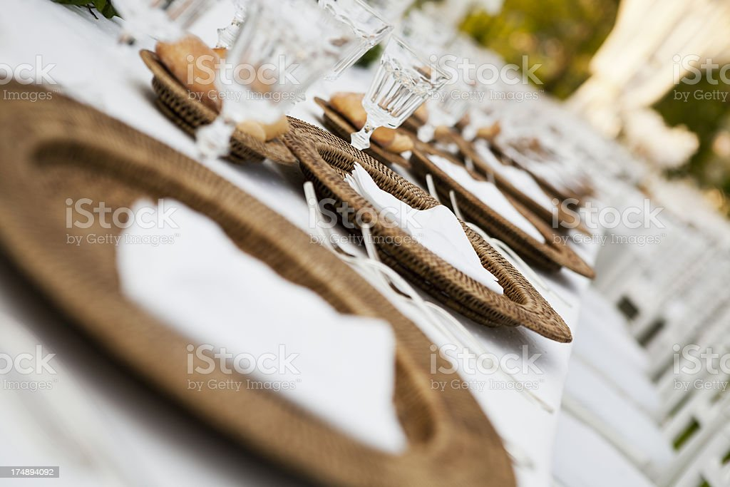 Wedding Table Ready For Dinner royalty-free stock photo