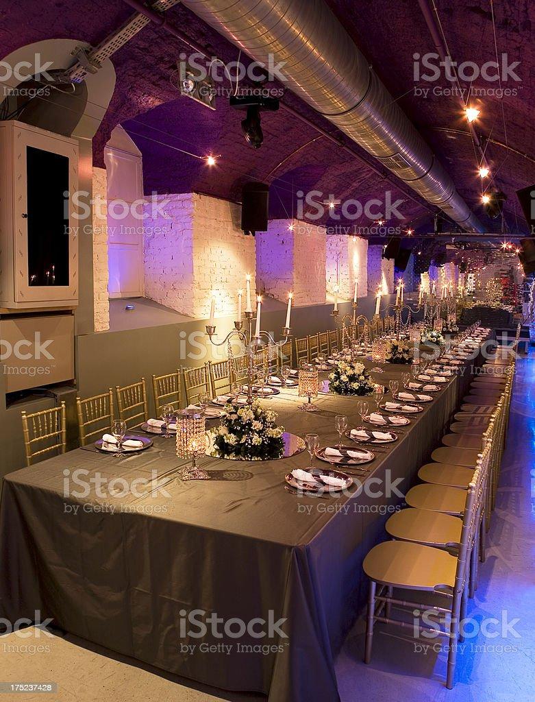 wedding table setting royalty-free stock photo