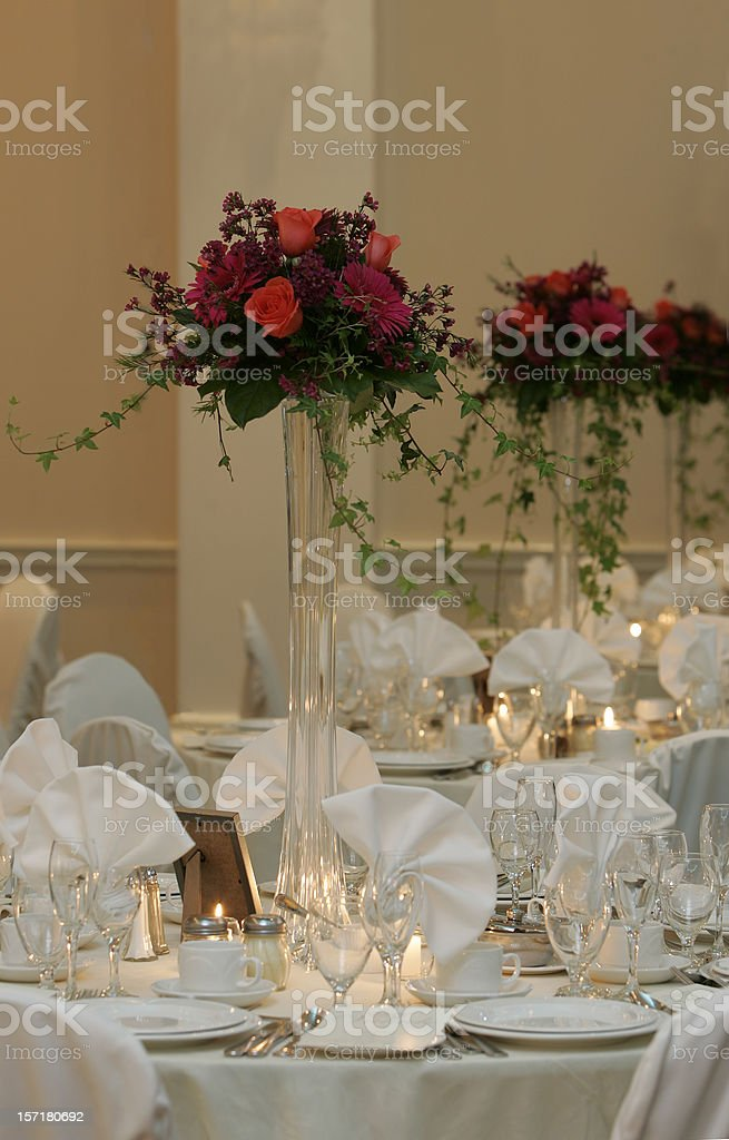 Wedding tables for guests royalty-free stock photo