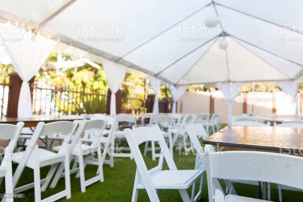 Wedding Tent stock photo