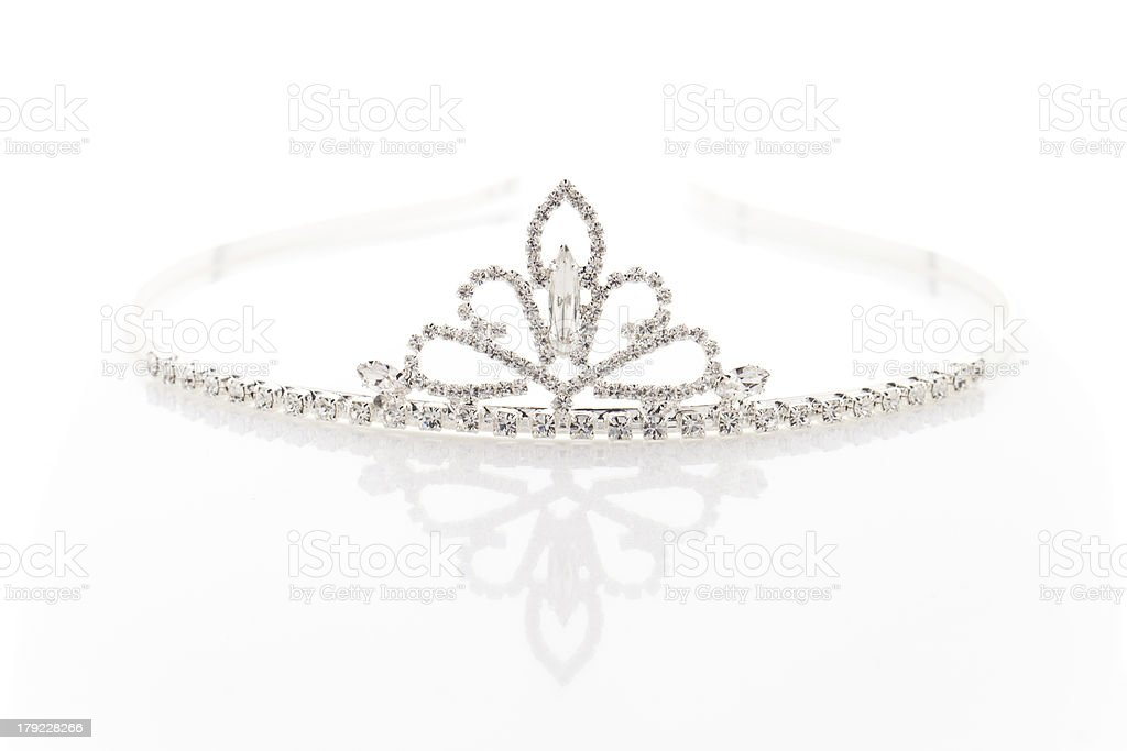 Wedding tiara with crystals stock photo