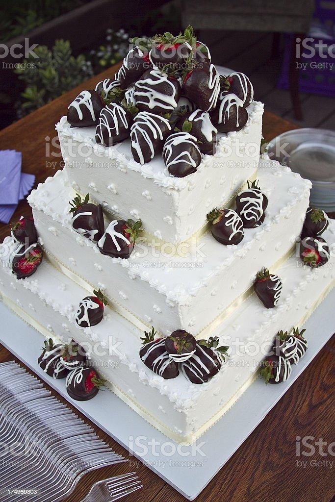 Birthday Cake Tier Candy Wedding Dark Chocolate Covered Strawberries