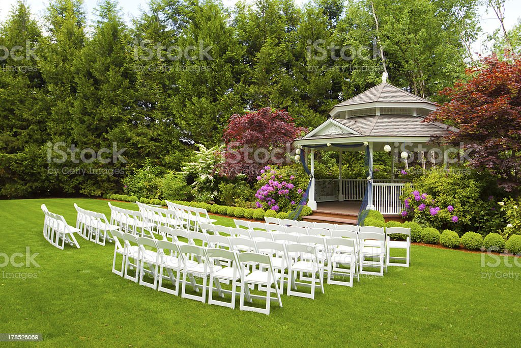 Wedding Venue and Chairs stock photo