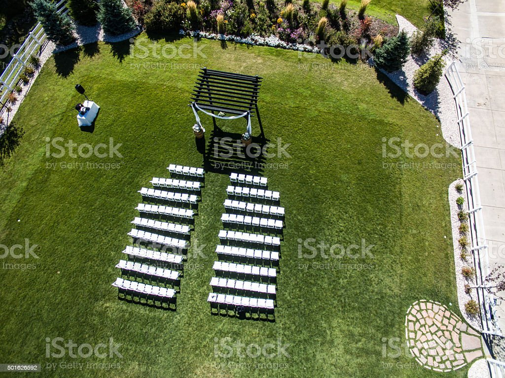 Wedding Venue From Above stock photo
