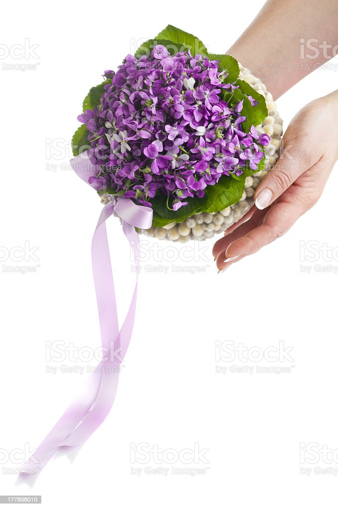 Wedding violet bouquet royalty-free stock photo