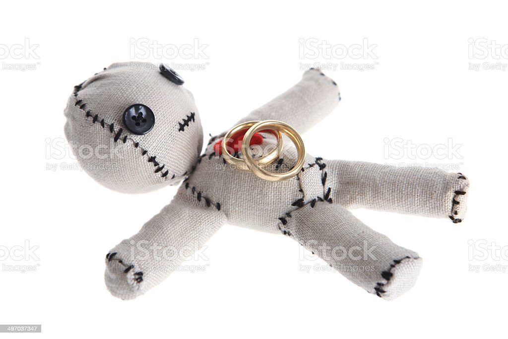 Wedding Voodoo Doll stock photo