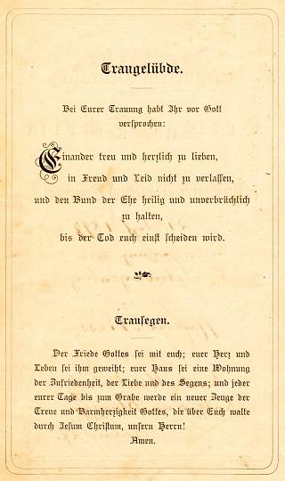 Vow Deutsch