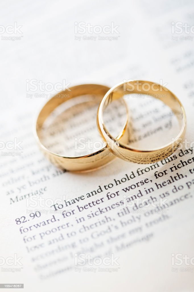 wedding vows and rings stock photo more pictures of color image