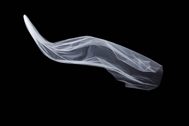 wedding white bridal veil isolated on black background - tiul tkanina zdjęcia i obrazy z banku zdjęć