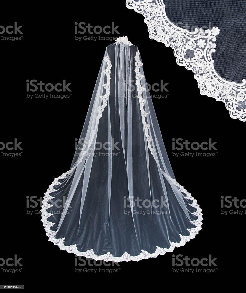 Wedding white veil stock photo