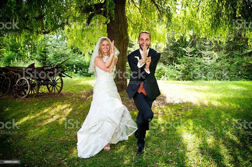 Hochzeit-Yoga – Foto