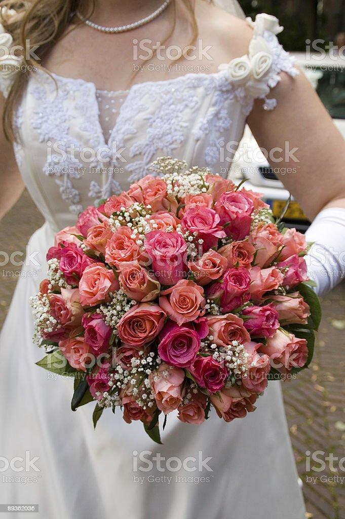 weddingbouquet royalty free stockfoto